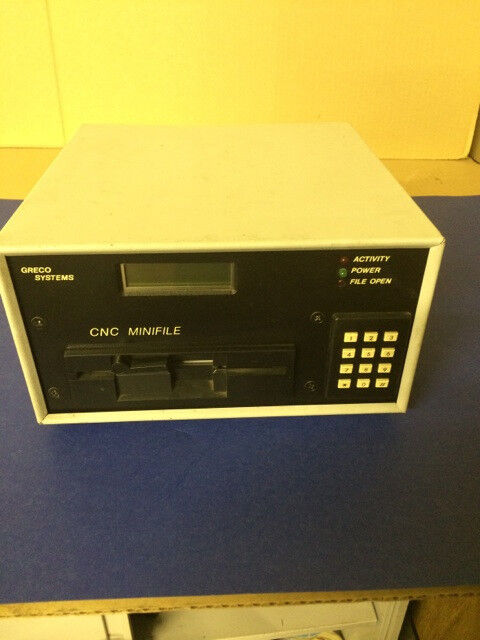 GRECO SYSTEMS CNC MINIFILE Model P-XTP - 15 Volts, 47-63Hz, .5 Amps P/N 5165