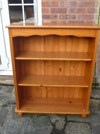 Solid Antique Pine Bookcase