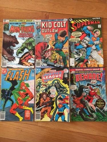 Superhero Comic Book Lot of 6 1973-1979