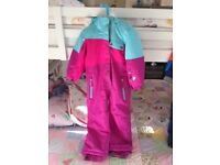Pink / Turquoise Nevica Ski Suit. Age 5-6.