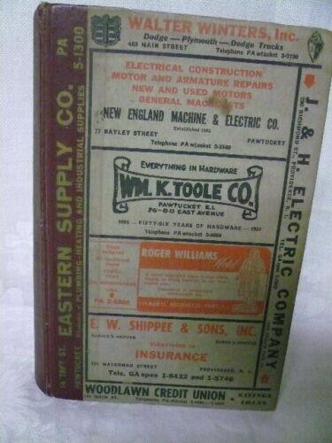 Rhode Island Polk's PAWTUCKET City Directory Incl.Central Falls 1957 MJGallegher