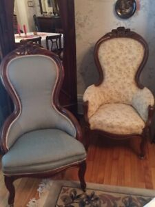 Victorian Antique Chairs.  Matching Pair.