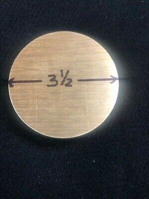 3-12 3.500 Round Brass Rodbar  1.00 Long  Lathe Or Milling Stock