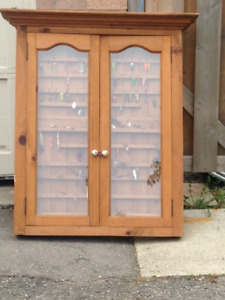 Fishing Lure Cabinet & Lures