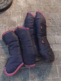 Full Set of Shires Horse travel boots - size medium