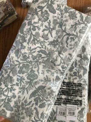 Pottery Barn Set 4 Lexi Napkins Cool Blue 20 sq Fabric Cloth Floral New](Cloth Napkins Bulk)