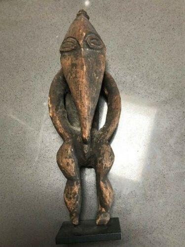 Fine carved wood New Guinea ancestral figure Sepik River tribal 19th-20thc