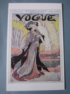MINT POSTCARD VOGUE COVER MARCH 19 1908 UNCREDITED