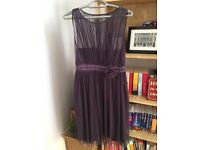 £5 Aubergine/dark purple bridesmaids dress from Debenhams, size 12