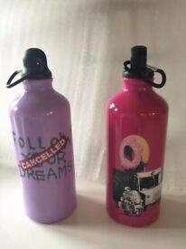 2 x Banksy Water Bottles, Brand New