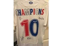 Rangers 3rd Shirt from 2009/10 signed