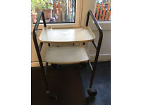Wheeled Side Table Trolley
