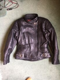Ladies Sportex Leather Motorcycle Jacket & Ashman Leather Trousers
