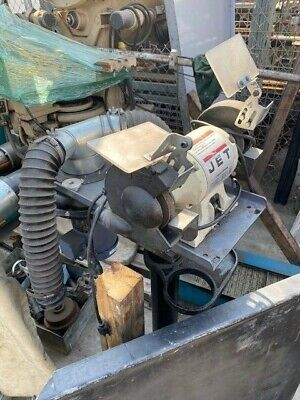 Jet Bench Grinder 12 Hp On Stand With Baldor Dust Collector