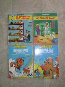 Lot 12 Bandes dessinées (BD) - Tintin, Lucky Luke, Asterix, etc