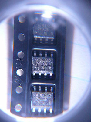 Atmel At24c02n-10sc-1.8 256x8 I2c2-wire Serial Eeprom Pdso8 New 5pkg