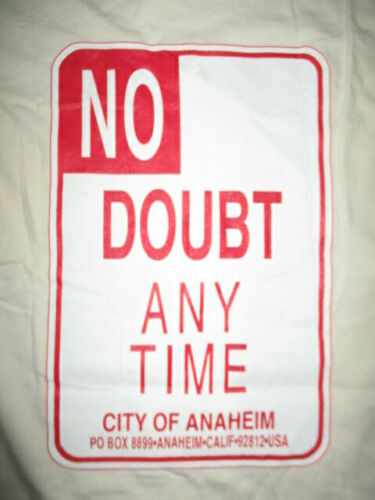 """Sof Tee Label - NO DOUBT """"Any Time City of Anaheim"""" Concert Tour (LG) T-Shirt"""