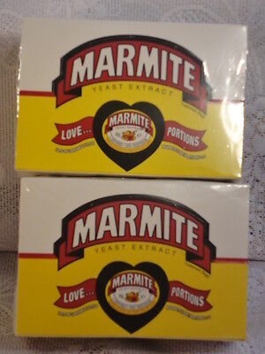 2 BOXES OF MARMITE  24 x 8 gm LOVE HEART PORTIONS 4 SAFE SHIPPING = 48 portions