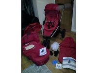 Pram and Pushchair - Maxi Cosi mura – whole set in red '''''reduced''''