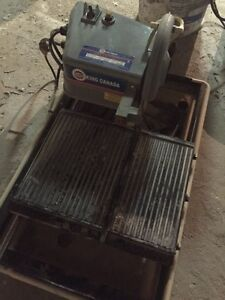 King wet tile saw