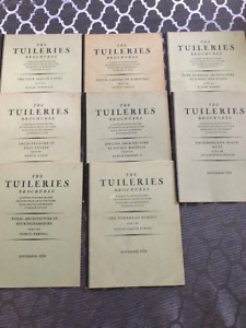 8 Copies of The Tuileries Brochure from 1929 to 1931