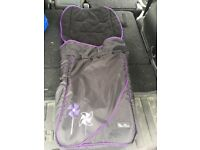 Silver Cross Pram Liner Purple and Black for sale