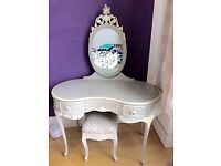 Elegant and rare dressing table and matching stool- antique in great condition £380