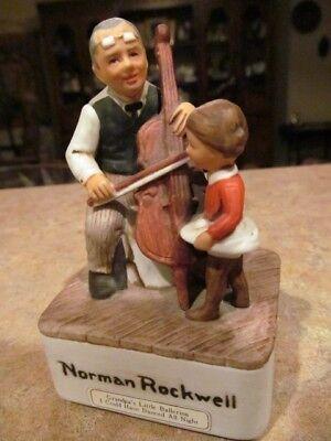 Vintage Norman Rockwell  Sankyo Music Box Figurine Grandpas Little Ballerina-EUC Grandpas Little Ballerina