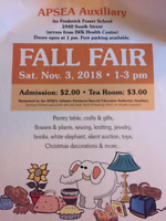 APSEA Auxiliary Annual Fall Fair