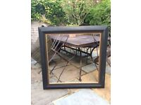 Extra Large Square Black Moulded Picture Frame