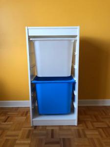 Meuble de rangement pour jouets, blanc, bois, Trofast IKEA