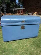 Retro, vintage sea chest, antique metal trunk, storage trunk Busselton Busselton Area Preview