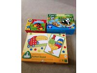 Bundle of ELC & Orchard Toys games - Button Board, Ladybirds, If you see a crocodile