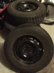 4 used winter tires 225/70/16 - ALMOST NEW