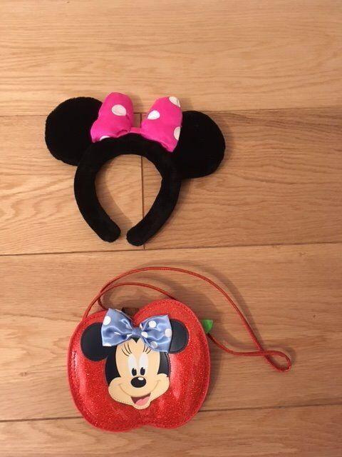 Disney Minnie Mouse bag and head band