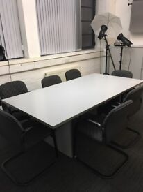 office furniture 2 meter white meeting table
