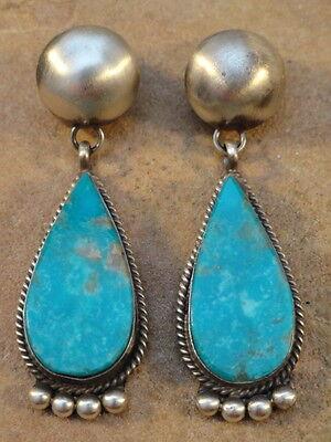 Selina Warner Navajo Sterling Silver & Turquoise Earrings