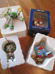 3 Christmas Magic Collectible Ornaments & 1 Kirkland
