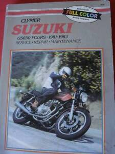 SUZUKI GS650 KATANA MOTORCYCLE WORKSHOP SERVICE MANUAL c1983 Dianella Stirling Area Preview