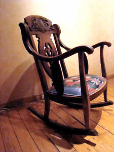 Antique Wooden Rocking Chair London Ontario image 6