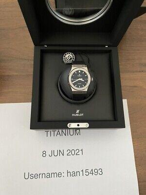 Hublot Classic Fusion 42mm Watch Titanium Black