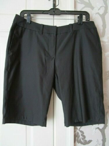 Nike Golf Black Tournament Bermuda Shorts Dri-Fit Size 8 Womens 747135-010
