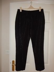 Betty Jackson Black Lined Size 12 Ladies Trousers