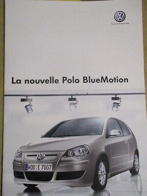 CATALOGUE AUTO : VW VOLKSWAGEN : LA NOUVELLE POLO BLUEMOTION 06/2007