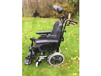 Invacare Rea Azalea Manual Wheelchair - Black in 'as new' condition