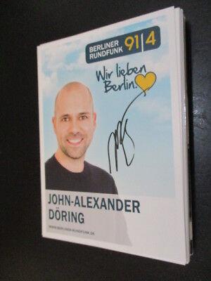 73048 John Alexander Döring Musik TV Film original signierte Autogrammkarte