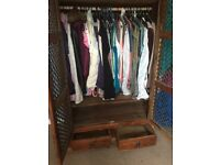 Double wood wardrobe very good condition