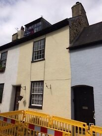 2 bed terrace house for rent, central Totnes $650/month