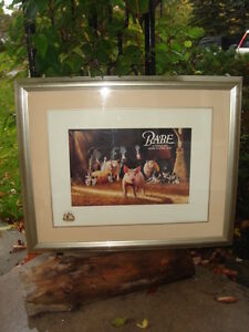 """BABE """"A LITTLE PIG GOES A LONG WAY""""-LIMITED EDITION FRAMED -$145"""