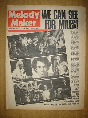 MELODY MAKER 1977 JAN 1 LONE STAR RACING CARS HOT RODS